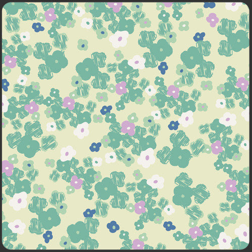 Poetica by Pat Bravo Love Notes Mint - Lady Belle Fabric