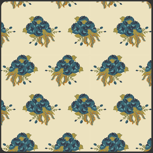 Splendor 1920 by Bari J Abbey Roses Shadow - Lady Belle Fabric