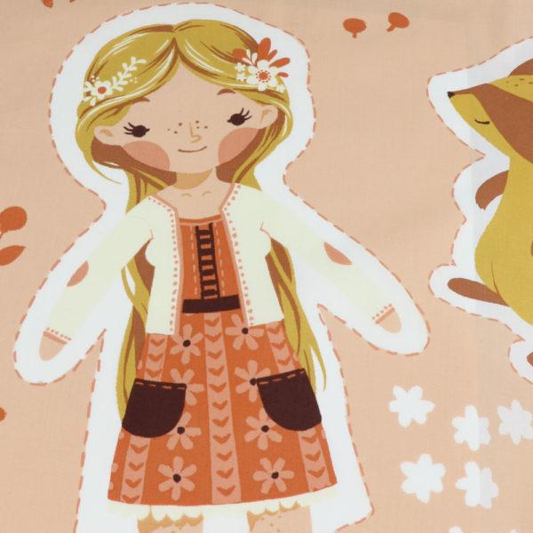 Best of Teagan White Cut and Sew Doll Panel from Birch Fabrics