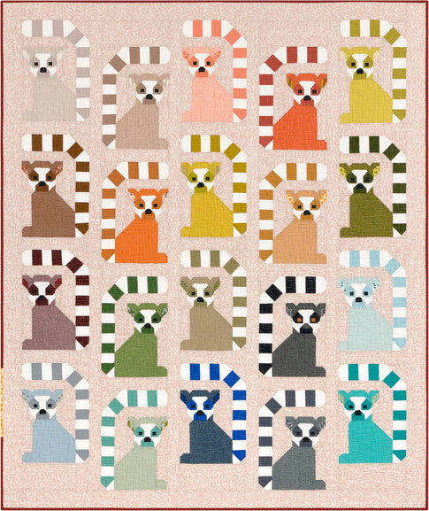 Lana Lemur by Elizabeth Hartman with Adventure Fabrics Quilt Kit from Robert Kaufman