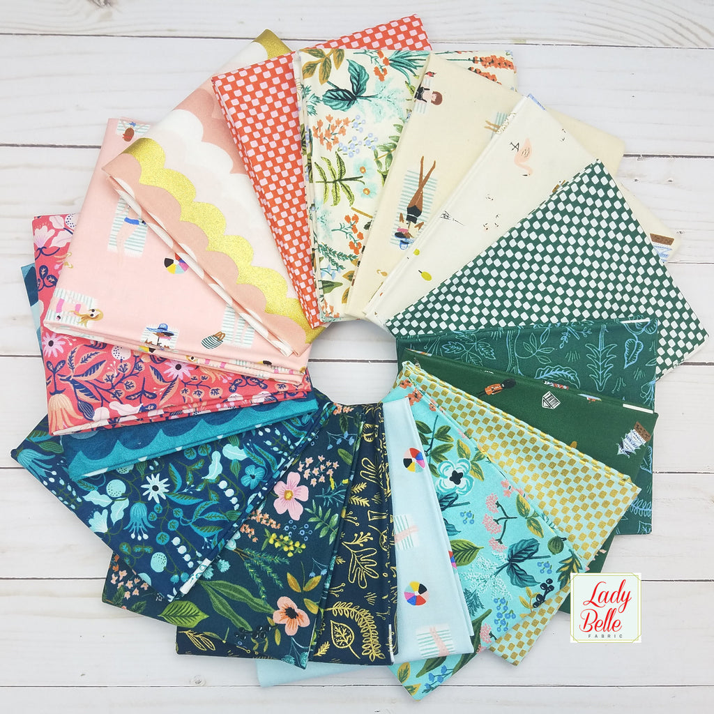 Amalfi by Rifle Paper Co for Cotton and Steel Fat Quarter Bundle