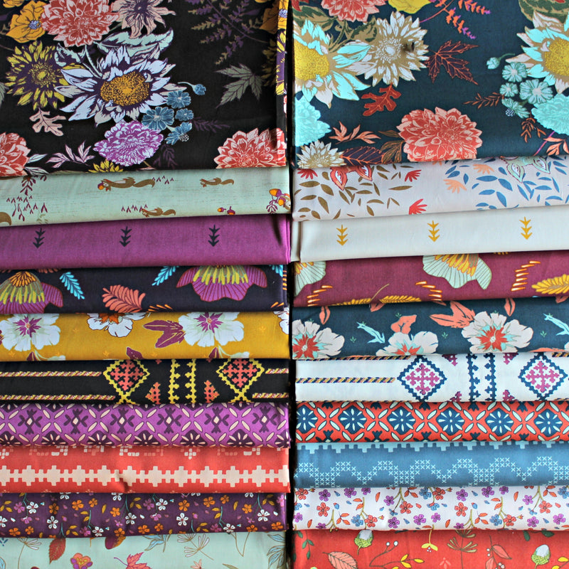 Flower Child Basics by Maureen Cracknell Fat Quarter Bundle