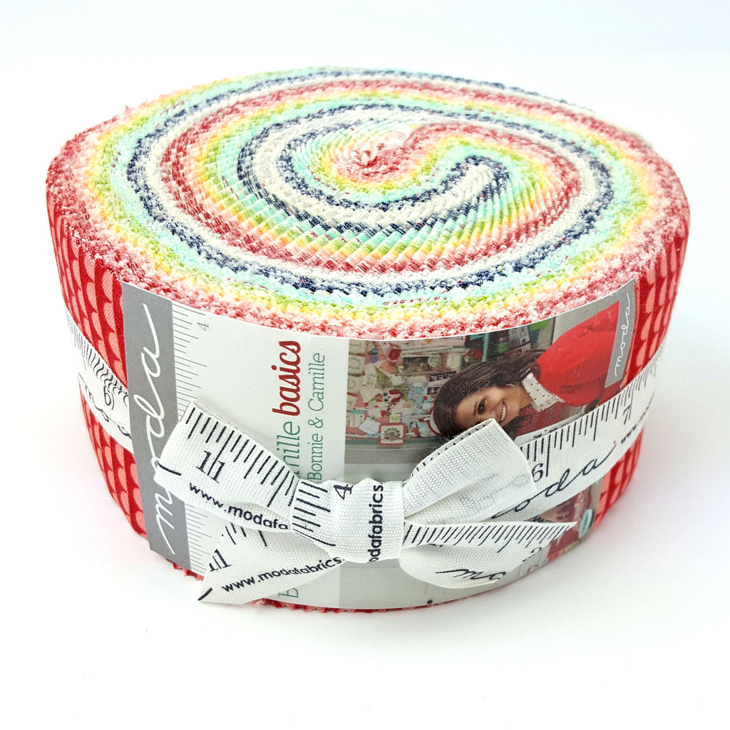 Bonnie and Camille Basics Jelly Roll for Moda