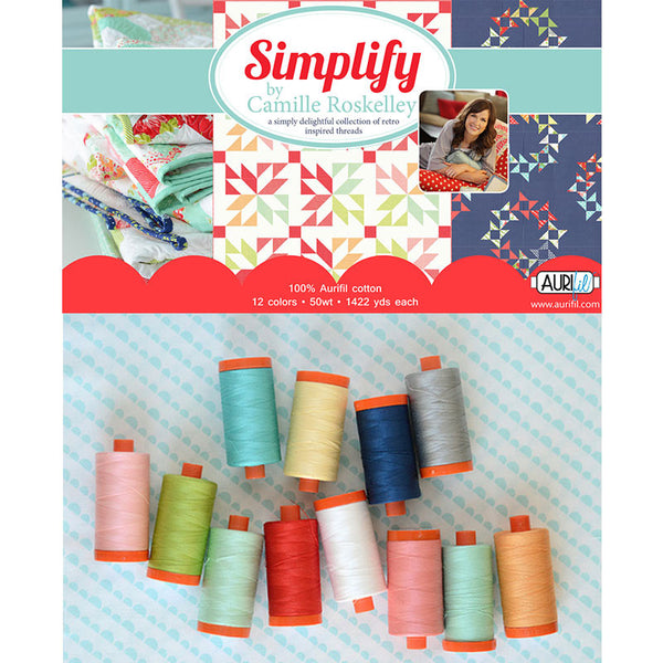 Simplify by Camille Roskelley Aurifil Thread Collection - Lady Belle Fabric