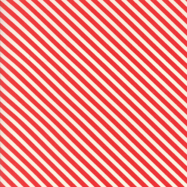 Handmade Candy Stripe red by Bonnie and Camille for Moda