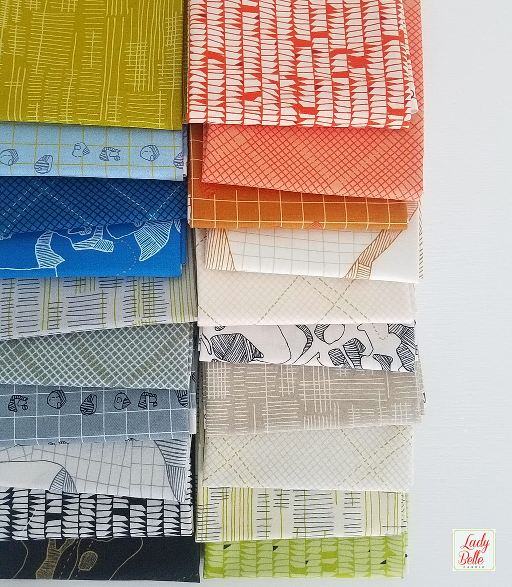 Carkai by Carolyn Friedlander for Robert Kaufman Fat Quarter Bundle