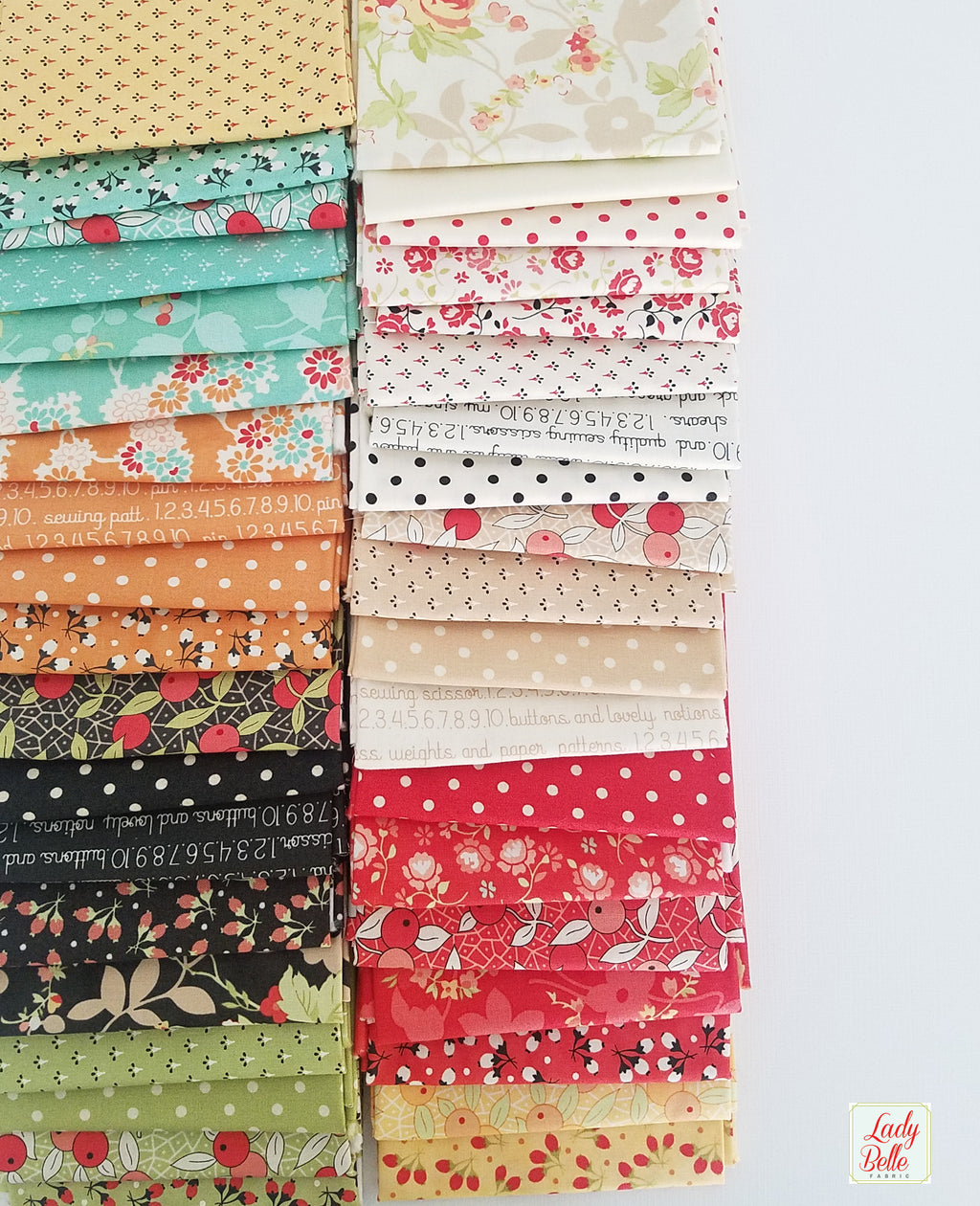 Chestnut Street by Fig Tree and Co. for Moda 38 piece Fat Quarter Bundle