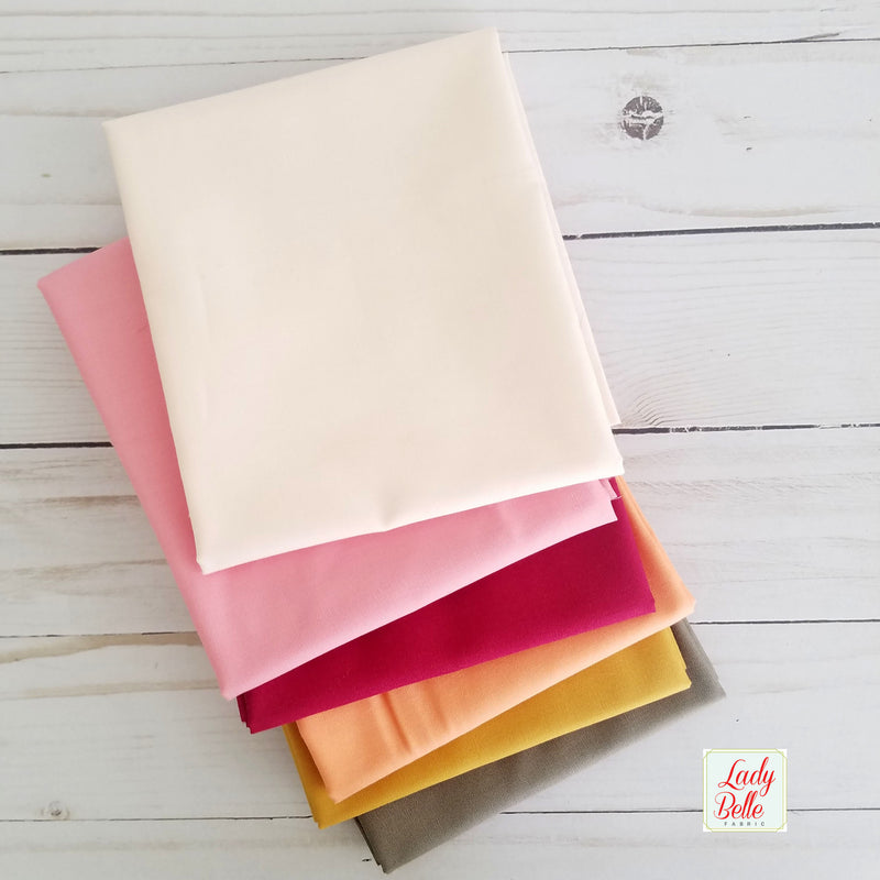 Peachy Pink Fat Quarter Bundle
