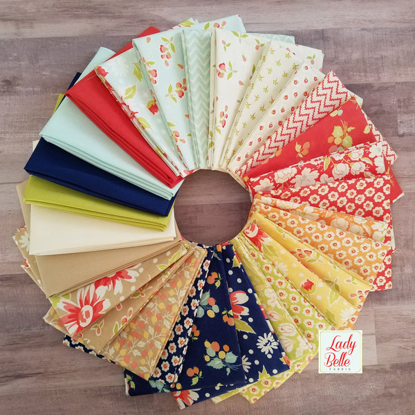 Coney Island with Solids by Fig Tree and Co. for Moda Fat Quarter Bundle