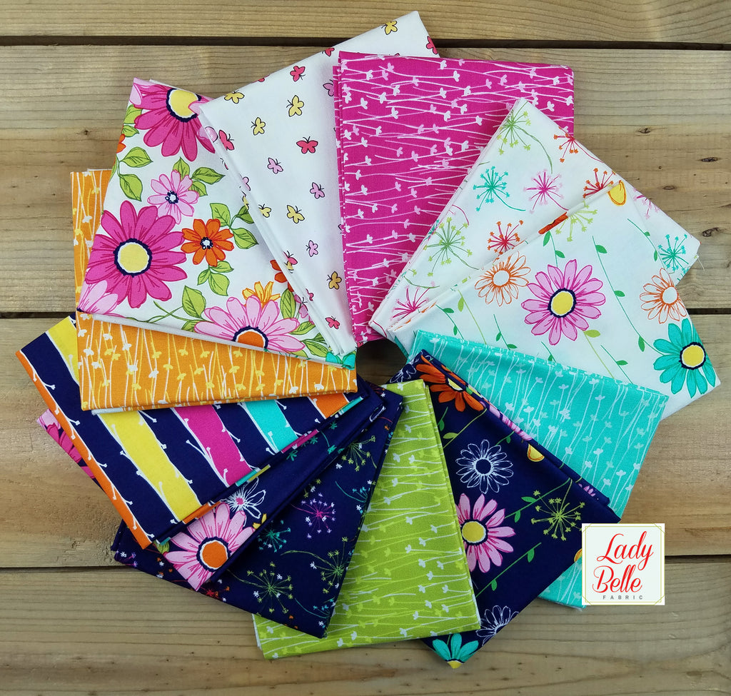 Doddle Daisy by Michael Miller Fat Quarter Bundle