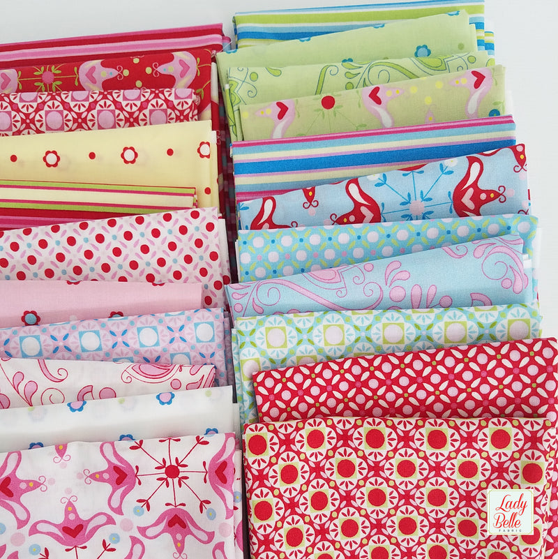 Candy Bloom by Rosalie Quinlan for Ella Blue Fat Quarter Bundle