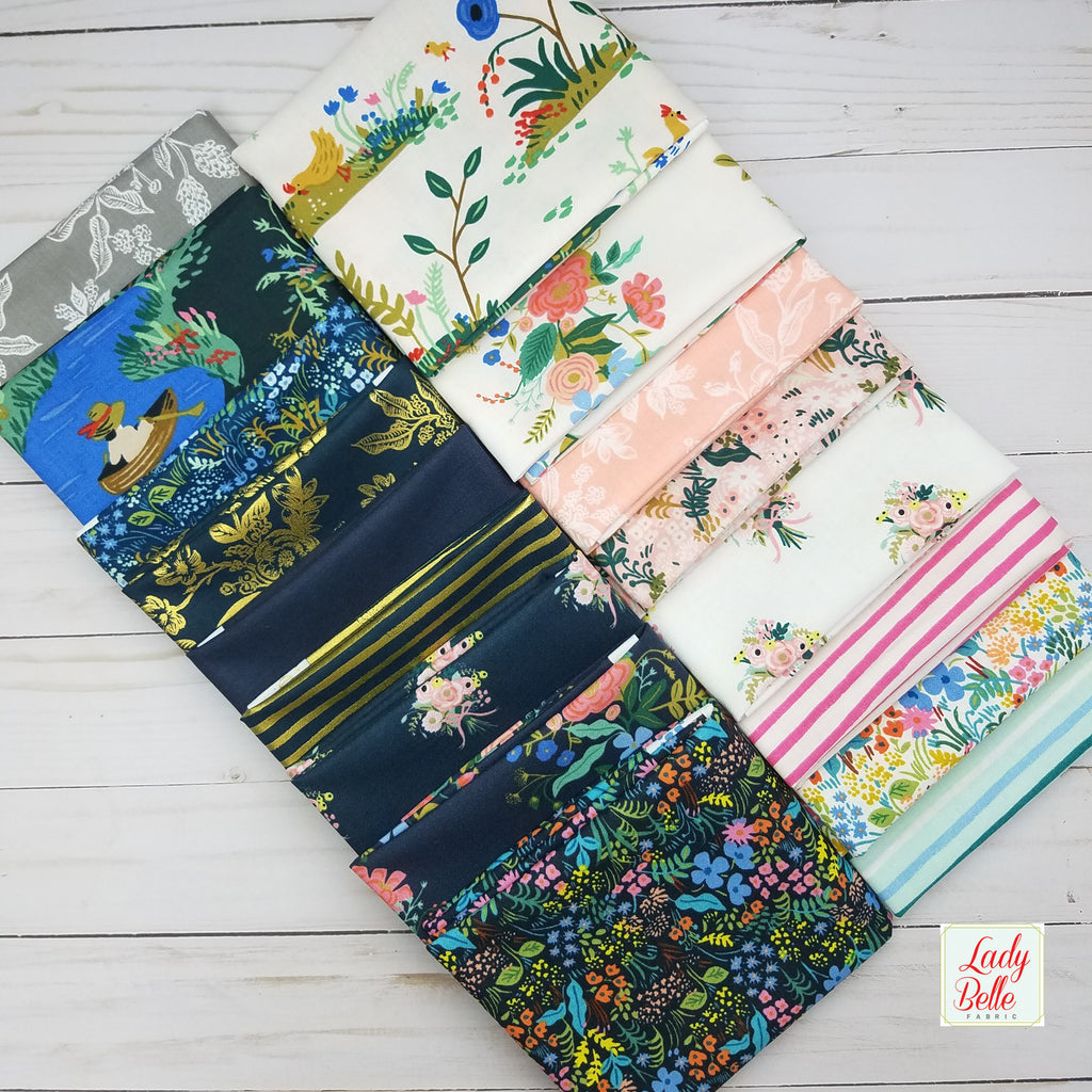 English Garden by Rifle Paper Co. for Cotton and Steel Charm Pack