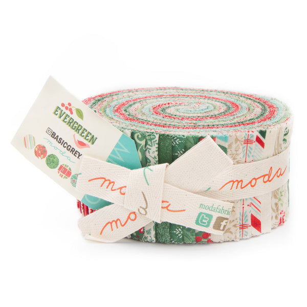 Evergreen by Basic Grey for Moda  Jelly Roll