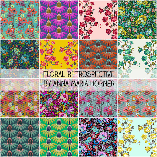 Floral Retrospective by Anna Maria Horner for Free Spirit fat Quarter Bundle