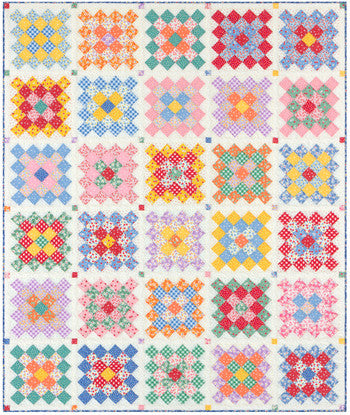 Granny Square Quilt Kit by Darlene Zimmerman for Robert Kaufaman