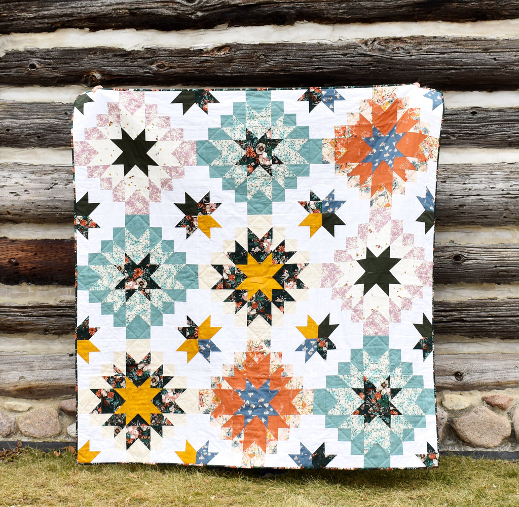 Harvest Star by Patchwork and Poodles Featuring Spirited Fabrics by Sharon Holland