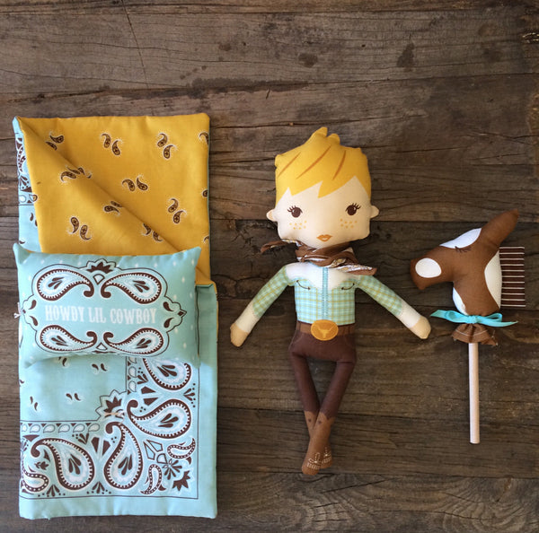 Howdy Boy Doll Panel by Stacy Iest Hsu for Moda