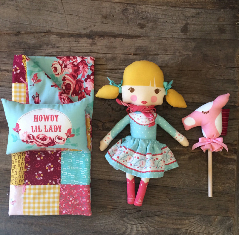 Howdy Girl Doll Panel by Stacy Iest Hsu for Moda