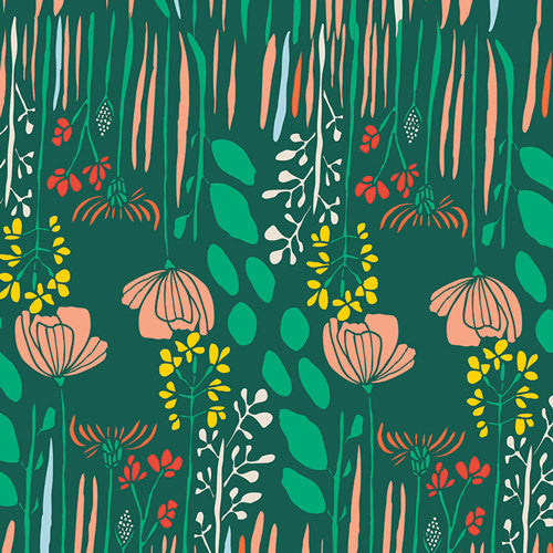 Meadow by Leah Duncan for Art Gallery Fabrics Summer Grove by Night - Lady Belle Fabric