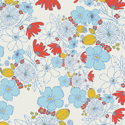 Meadow by Leah Duncan for Art Gallery Fabrics Leas Bloom Clearwater - Lady Belle Fabric