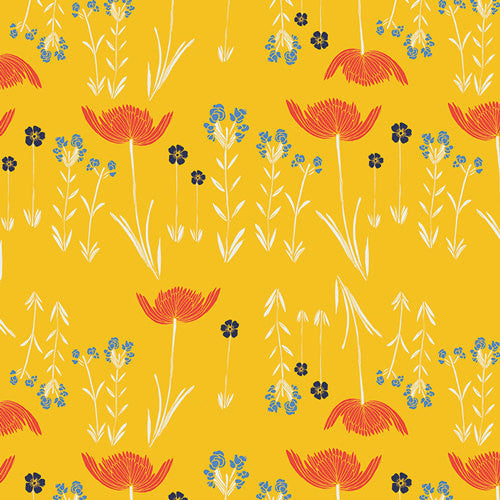Meadow by Leah Duncan for Art Gallery Fabrics Savanna Glow Golden - Lady Belle Fabric