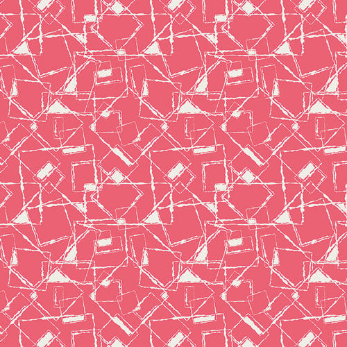 Nouvelle by Pat Bravo for Art gallery Fabrics New Look Coral - Lady Belle Fabric