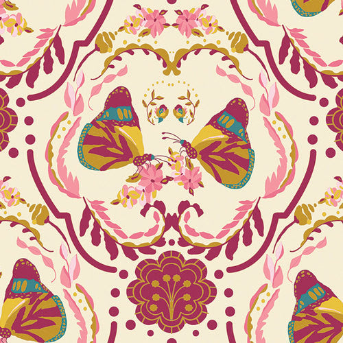 Emmy Grace by Bari J for Art Gallery Fabrics Painted Ladies' Kiss - Lady Belle Fabric