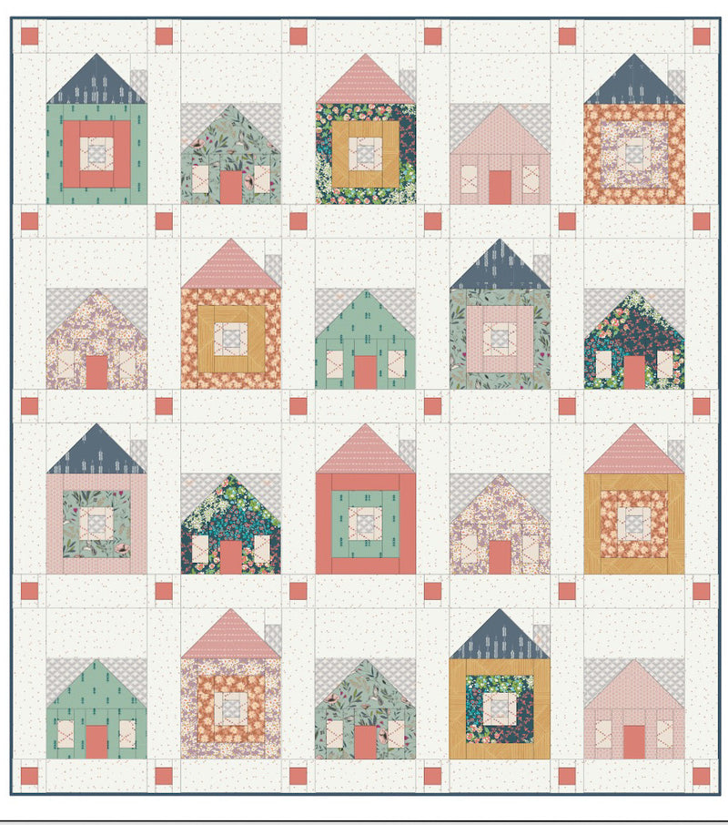 Sweet Home Quilt Kit by Sharon Holland