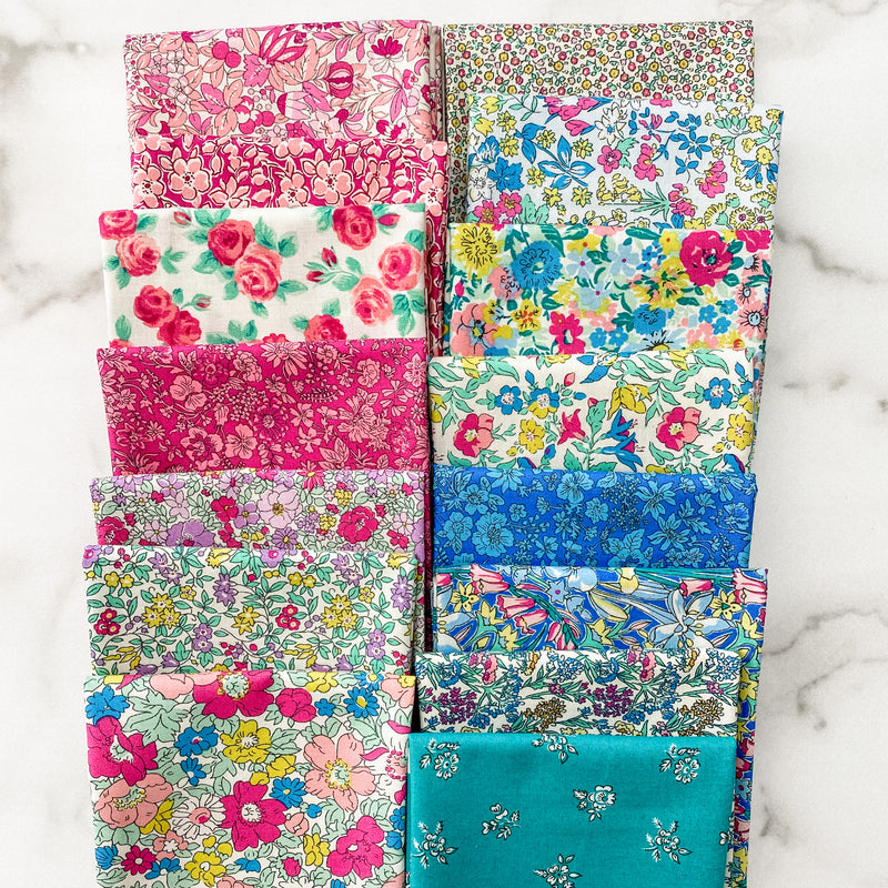 Flower Show Summer by Liberty of London for Riley Blake Designs Fat Quarter Bundle