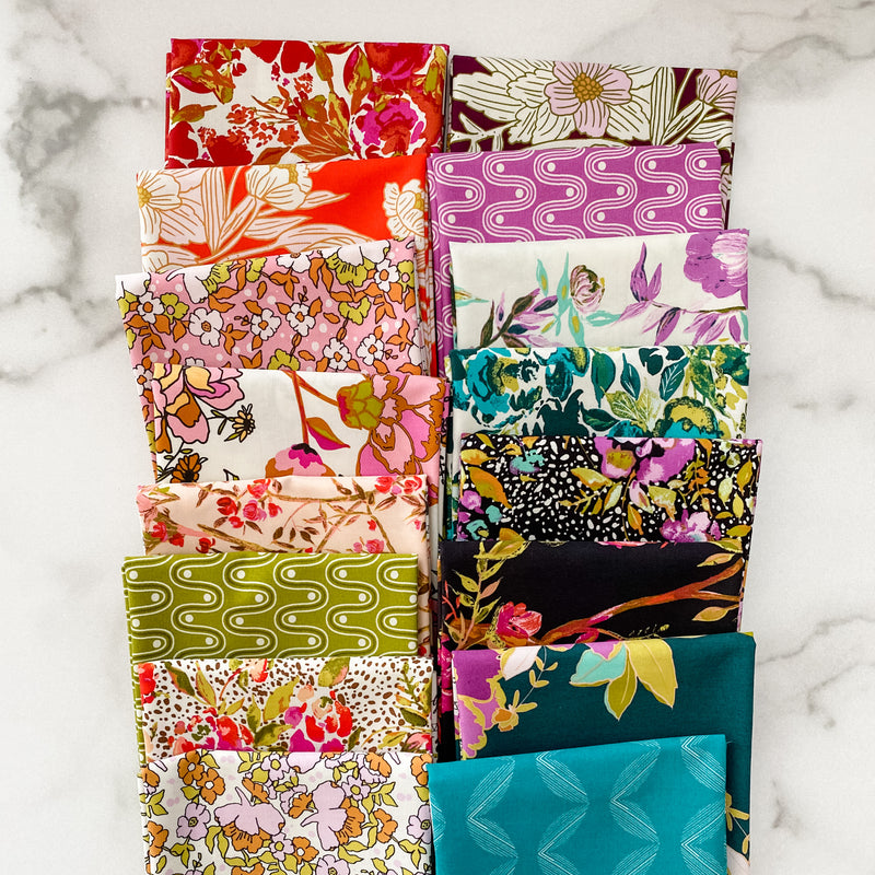 Collection CF by Carolyn Friedlander for Robert Kaufman 14 piece Fat Quarter Bundle