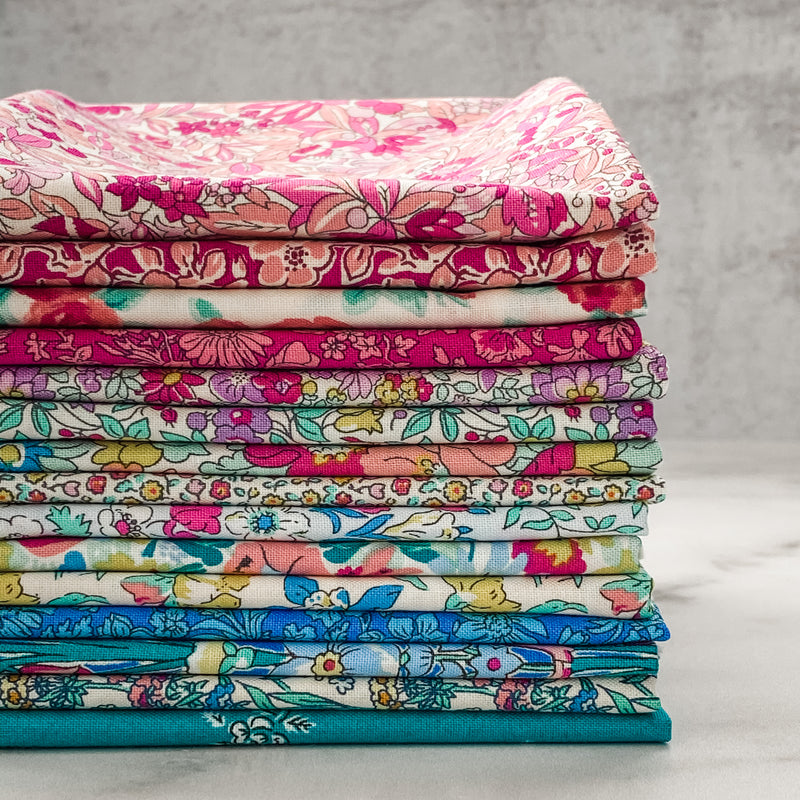 Flower Show Summer by Liberty of London for Riley Blake Designs Half Yard Bundle