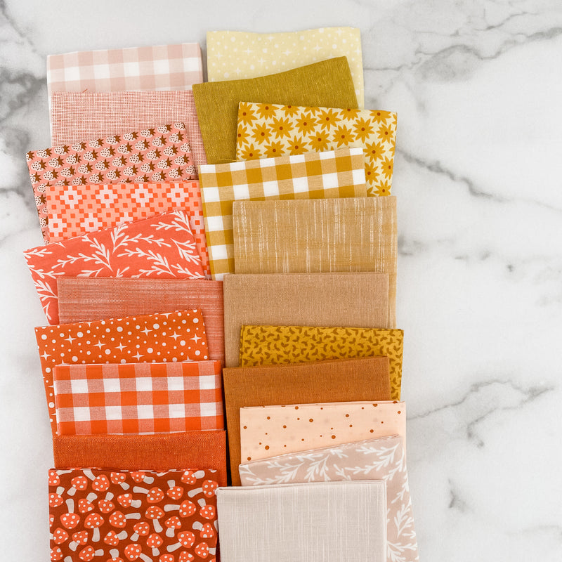 Paintbox Sunshine Basics by Elizabeth Hartman for Robert Kaufman Fat Quarter Bundle