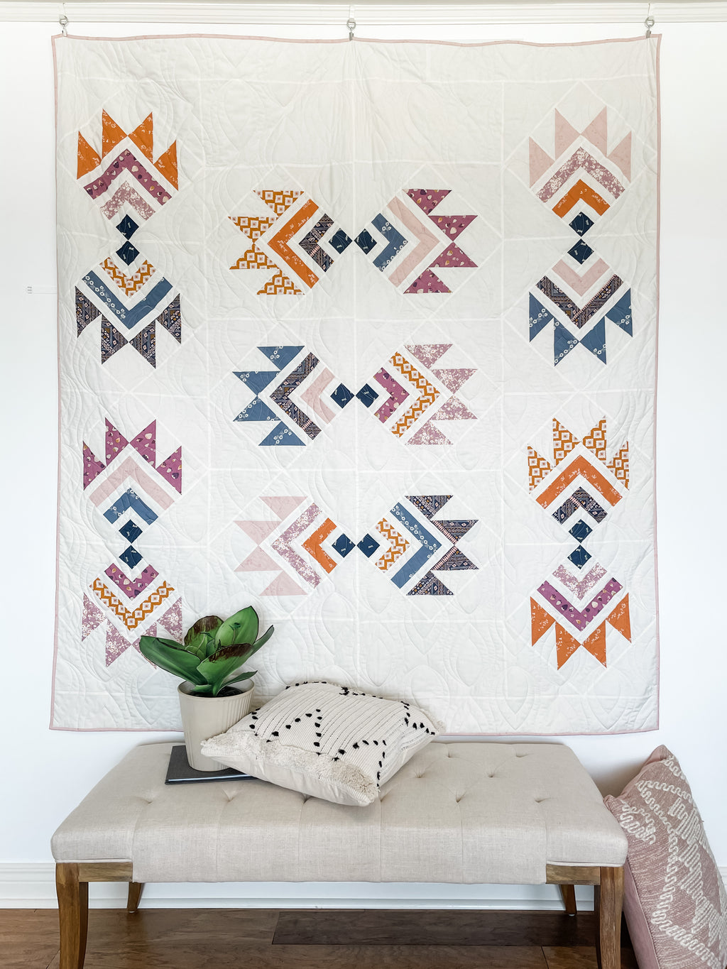 PRE ORDER South Paw Quilt Kit by Sharon Holland featuring Liliput Fabrics