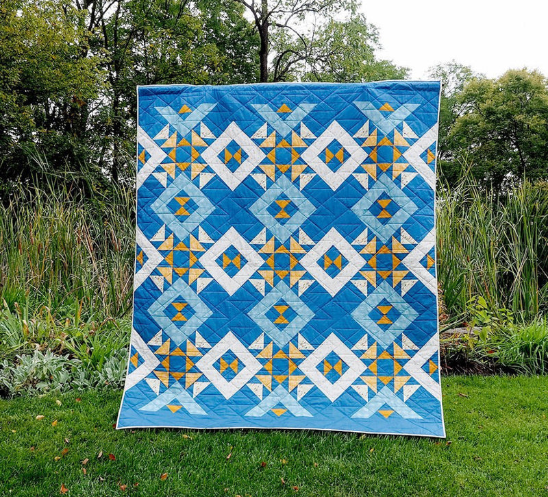 Trapeze Sky Quilt Kit by Sharon Holland