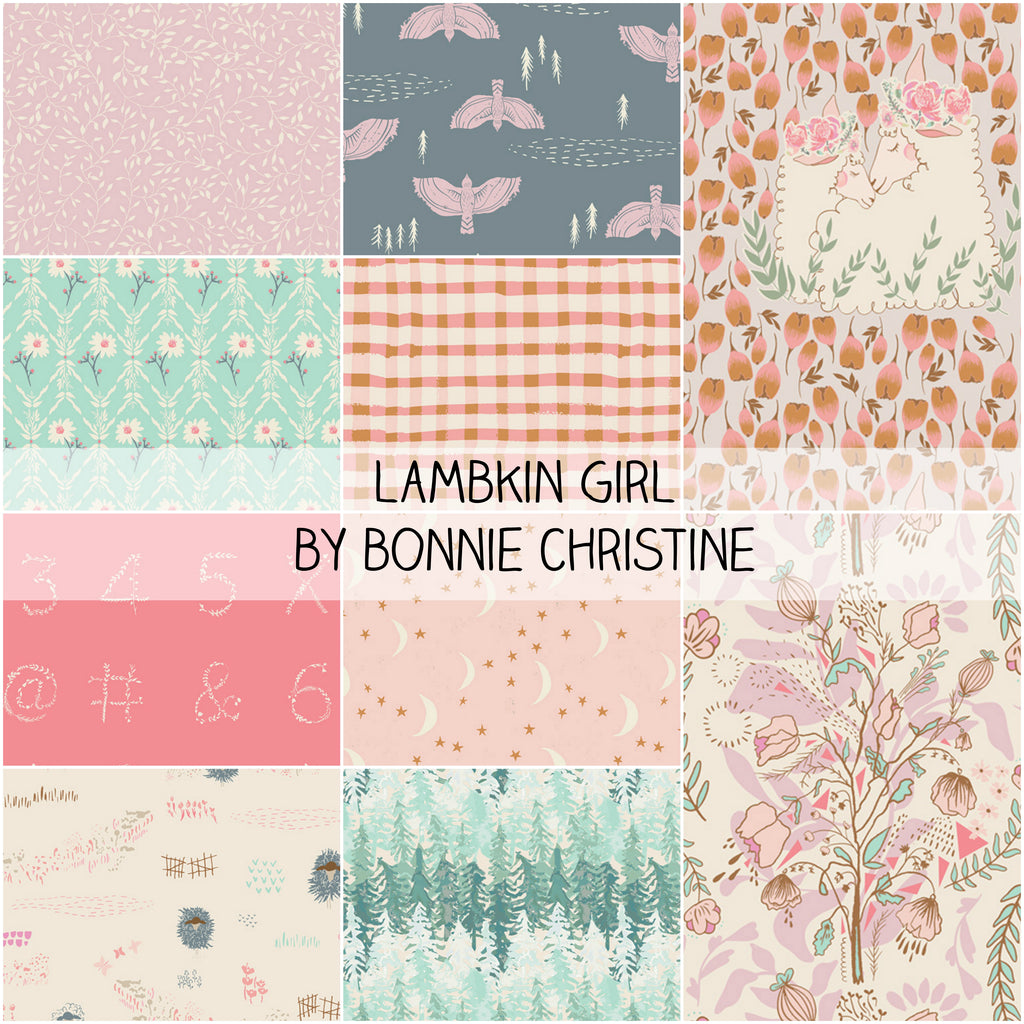 Lambkin Thistle by Bonnie Christine for Art Gallery Fabrics fat Quarter Bundle