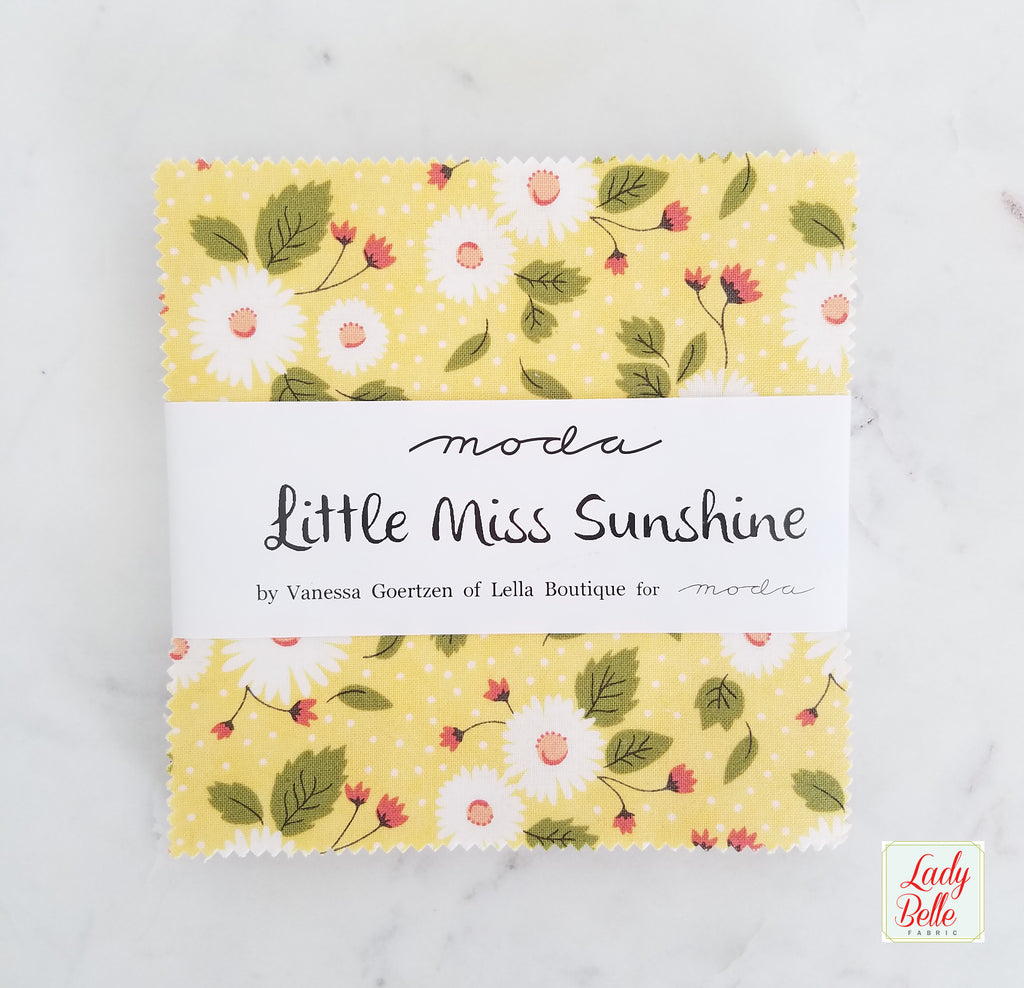 Little Miss Sunshine by Lella Boutique for Moda Charm Pack