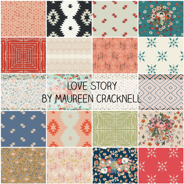 Love Story by Maureen Cracknell for Art Gallery Fabrics Fat Quarter Bundle