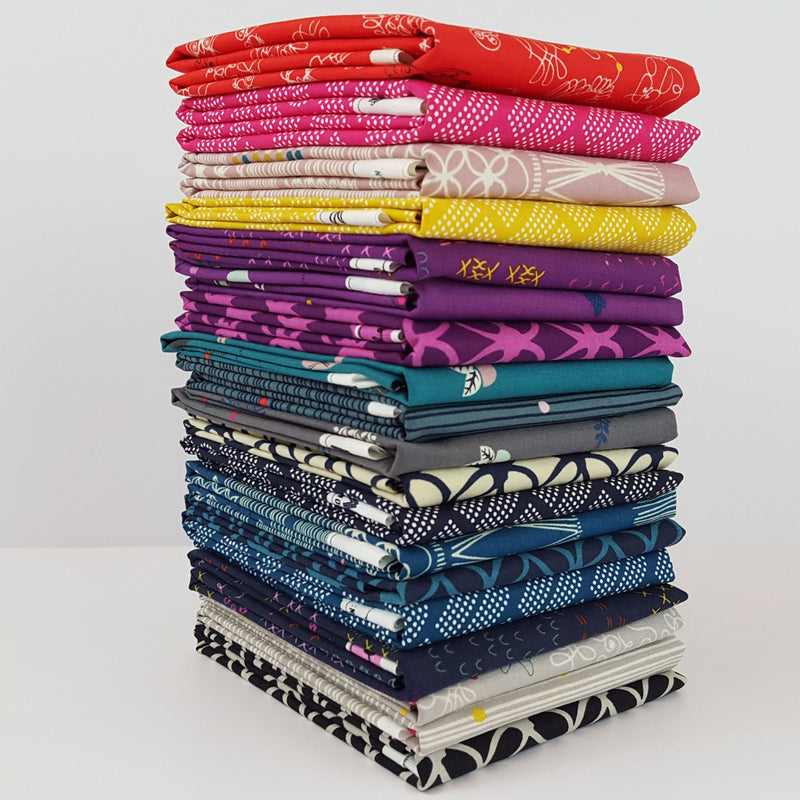 macrame fabric collection, fat quarter bundle