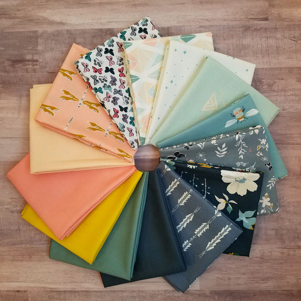 Maureen Cracknell Springtime Fat Quarter Bundle with Solids