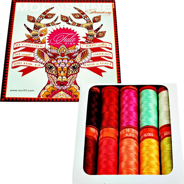 Moonshine Strawberry Aurifil Thread Collection