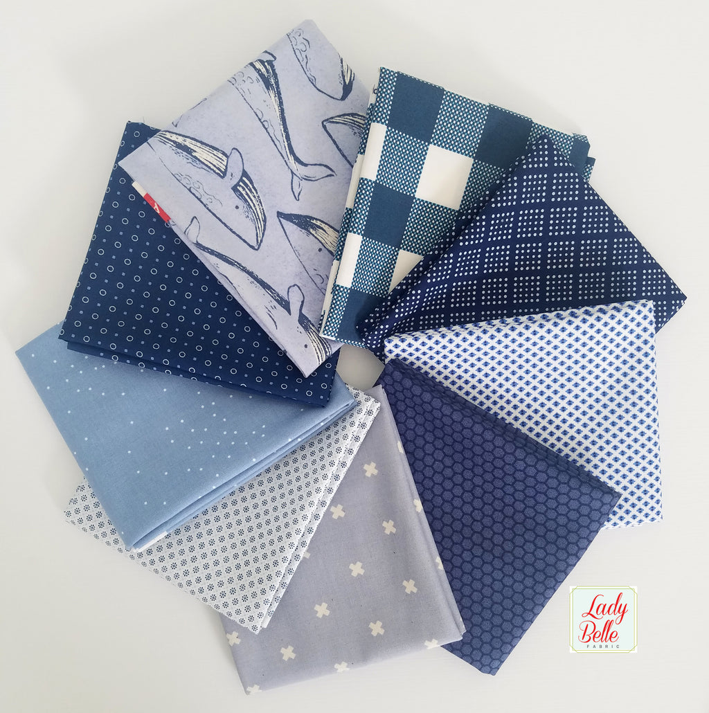 Ocean Blue Fat Quarter Bundle