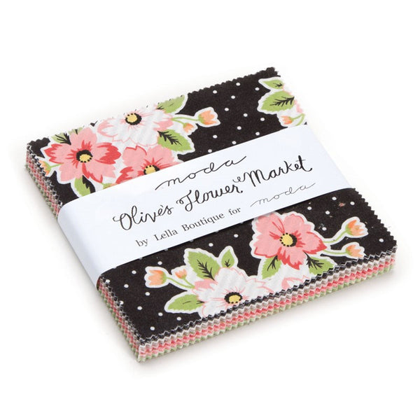 Olives Flower Market Charm Pack by Lella Boutique for Moda