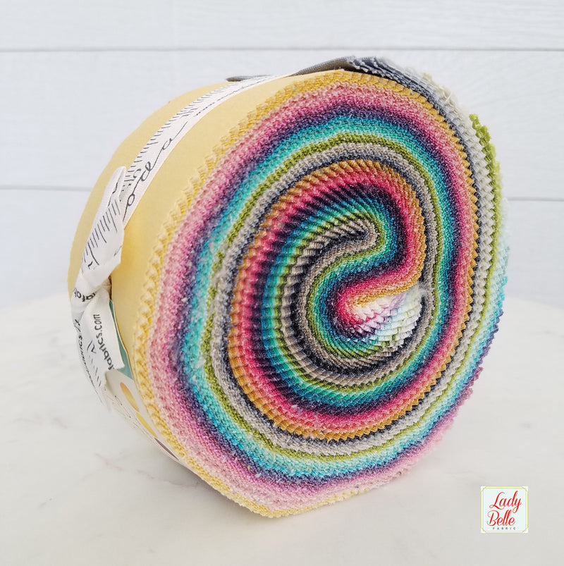 Simply Colorful Junior Jelly Roll by V and Co. for Moda Red