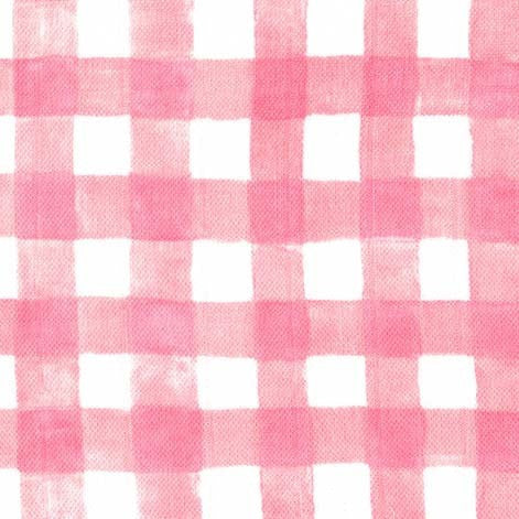 Pink check double gaze