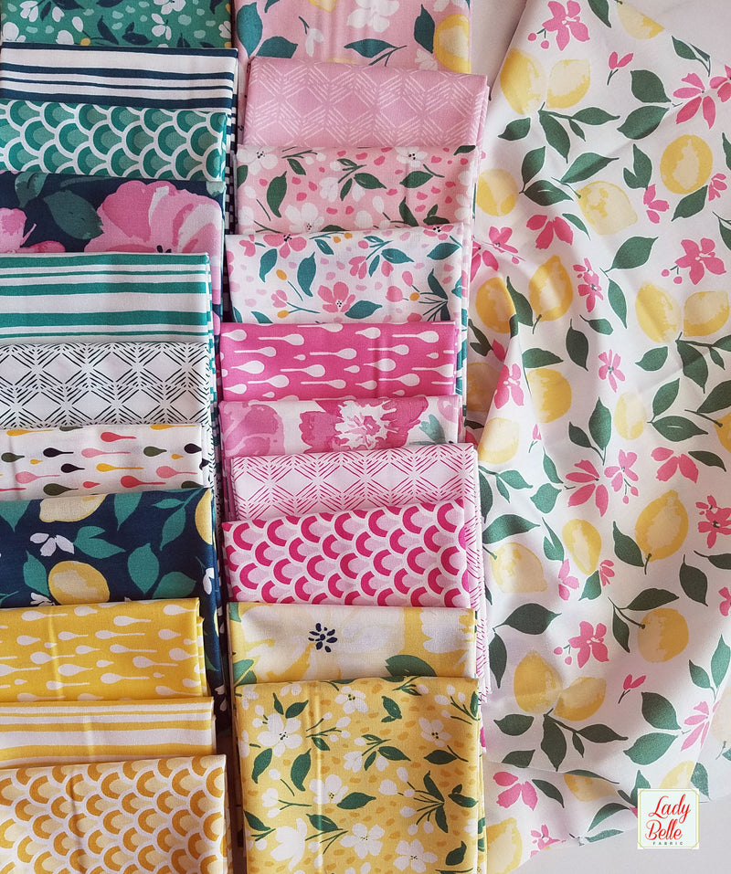 Pink Lemonade by Tessie Fay for Windham Fabrics Half Yard Bundle