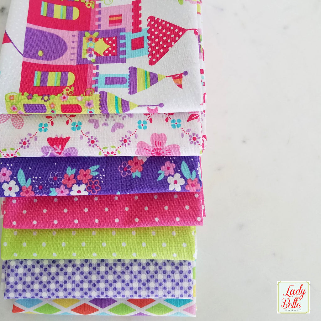 Pretty Princess Fat Quarter Bundle by Michael Miller Fabrics