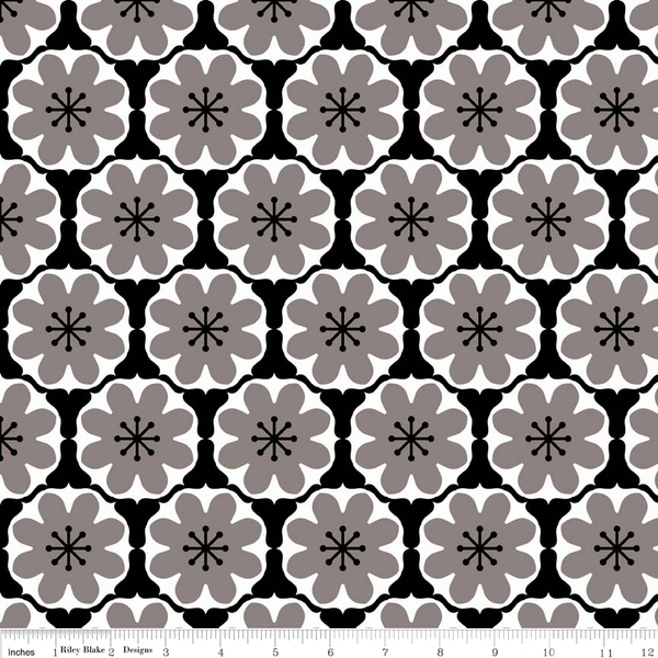 Mod Studio Damask Black by Holli Zollinger for Riley Blake - Lady Belle Fabric
