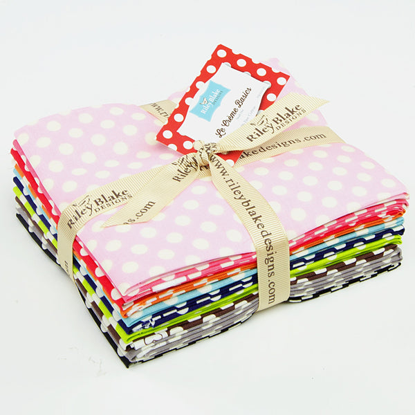 Small Cream Dot Fat Quarter Bundle - Lady Belle Fabric