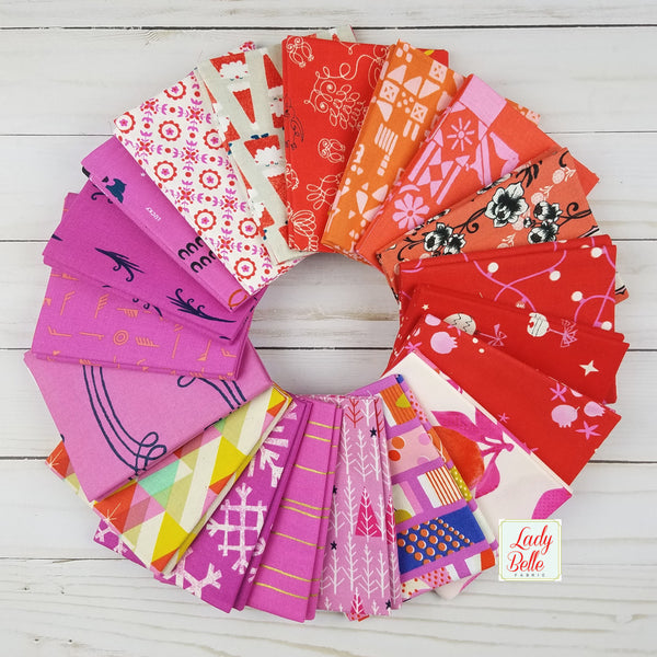 Cotton and Steel Red and Pink Collection Box - Fat Quarters