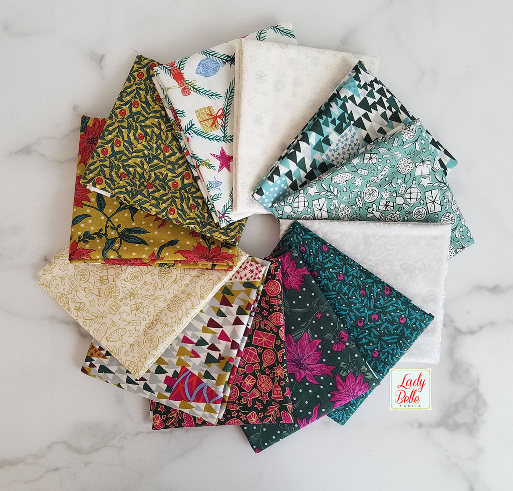 Season's Greetings by Liberty of London for Riley Blake Half Yard Bundle